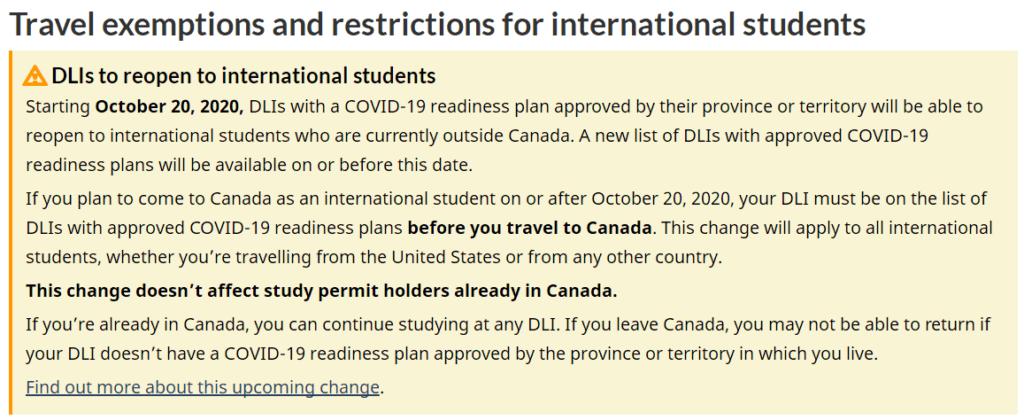 关于留学生注意事项