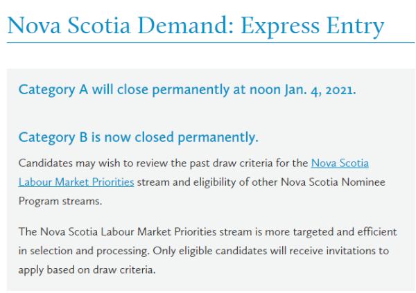 NSNP Demand Express Entry